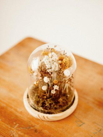 cúpula cristal flor preservada